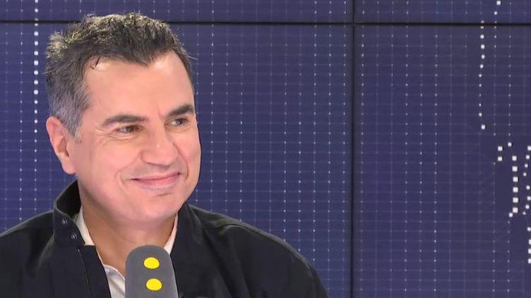 Laurent Luyat, journaliste sportif, sur le plateau de franceinfo, vendredi 24 mai 2019. (FRANCEINFO / RADIOFRANCE)