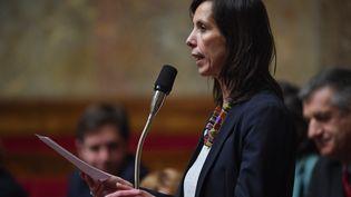 La députée Albane Gaillot, rapporteure de la loi visant à allonger le délai de l'IVG en France. (A l'Assemblée Nationale le 6 février 2019). (CHRISTOPHE ARCHAMBAULT / AFP)