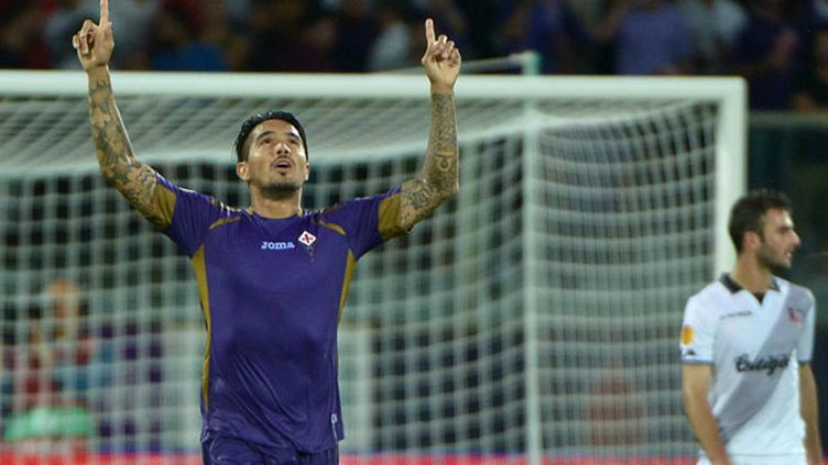 Le milieu de la Fiorentina Juan Manuel Vargas