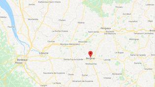 Bergerac (Dordogne) (CAPTURE ECRAN GOOGLE MAPS)