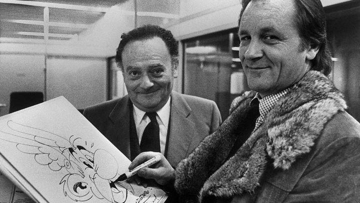 René Goscinny et Albert Uderzo dans les années 70  (Staff / AFP)