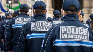 Desagents lors de la présentation officielle de la première promotion de la police municipale à paris, le 18 octobre 2021. (RICCARDO MILANI / HANS LUCAS / AFP)