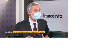 Thierry Mallet, PDG de Transdev, invité de franceinfo, mercredi 11 novembre 2020. (FRANCEINFO)