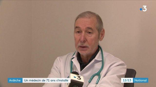 Ardèche: à 71 ans, un médecin s'installe