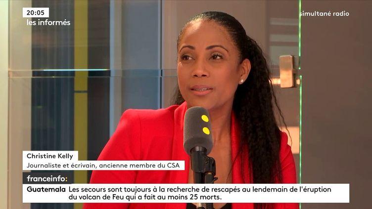 Christine Kelly, journaliste et écrivain, ancienne membre du CSA sur franceinfo, le 4 juin 2018. (FRANCEINFO / RADIOFRANCE)