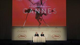 Thierry Frémaux et Pierre Lescure annoncent la sélection du 70e Festival de Cannes (2017)  (LIONEL BONAVENTURE / AFP)