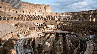 L'arène du Colisée de Rome en octobre 2020. (XAVIER MALAFOSSE/SIPA)