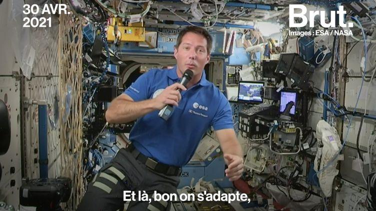 VIDEO. Thomas Pesquet : son quotidien à bord de l'ISS (BRUT)