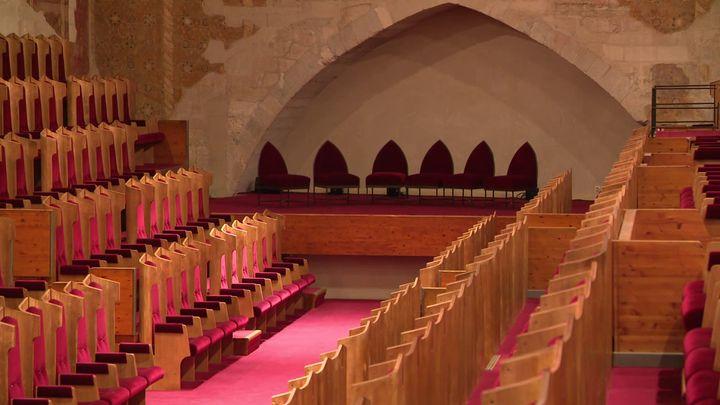 La Salle du Conclave du Palais des Papes (CAPTURE D'ÉCRAN FRANCE 3)