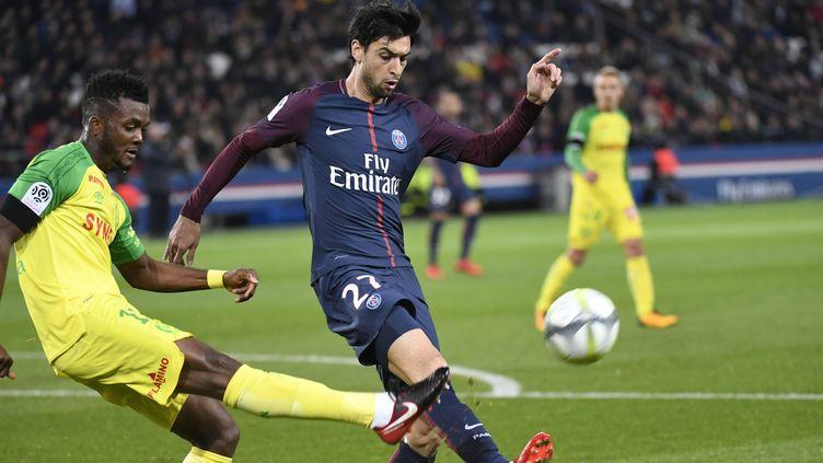 Javier Pastore, titulaire devant Nantes, a mené le jeu du PSG