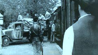 L'attaque du train de la Banque de France à Neuvic, le 26 juin 1944. (CAPTURE D'ÉCRAN FRANCE 3 / DR)