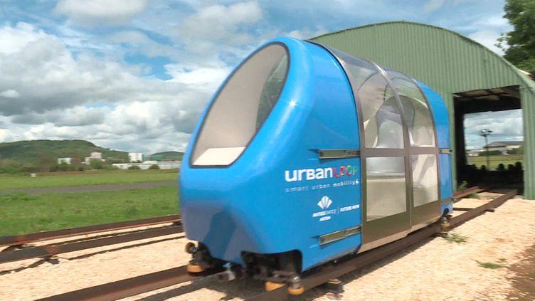 Capsule Urbanloop à l'essai. (CAPTURE D'ÉCRAN FRANCE 3)