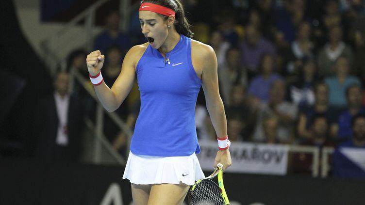 La joueuse de l'équipe de France Caroline Garcia (ELYXANDRO CEGARRA / NURPHOTO)