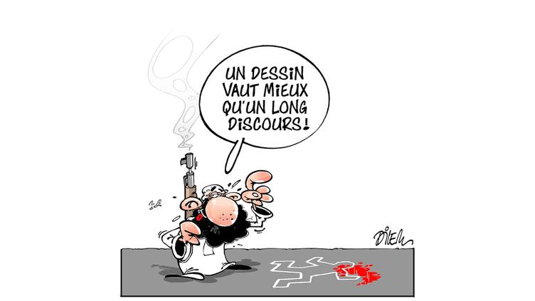 Un dessin du caricaturiste algérien Dilem. (DILEM)