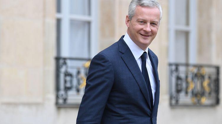 Le ministre de l'Economie, Bruno Le Maire, à l'Elysée le 6 juin 2018. (ALAIN JOCARD / AFP)