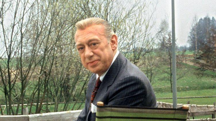 """Horst Tappert, du temps de l'âge d'or de """"Derrick"""", le 18 avril 1987 à Munich  (Ursula Dþren / DPA / AFP)"""