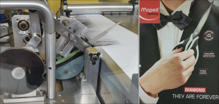 Le laboratoire test pour les ciseaux de l'entreprise Maped (© MAPED)