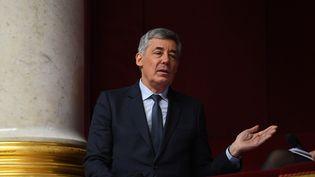 Le député Les Républicains Henri Guaino s'exprime lors des Questionsau gouvernement, à l'Assemblée nationale (Paris) le 18 janvier 2017. (ERIC FEFERBERG / AFP)
