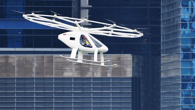 LeVolocopter testé à Singapour, le 22 octobre 2019. (XINHUA)
