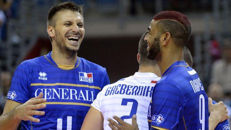 Antonin Rouzier, Earvin Ngapeth et Jenia Grebenikov, l'image d'une équipe de France tout sourire