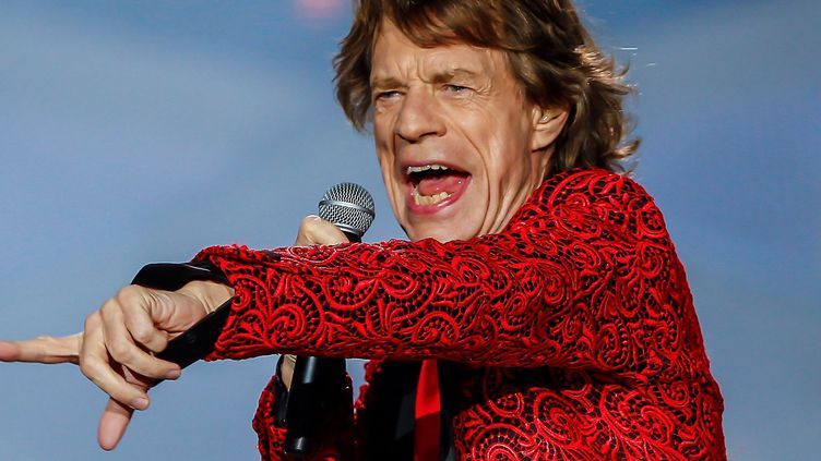 Mick Jagger en concert avec les Rolling Stones le 4 juillet 2015 à Indianapolis (Etats-Unis).  (Michael Hickey / Getty Images North America / AFP)