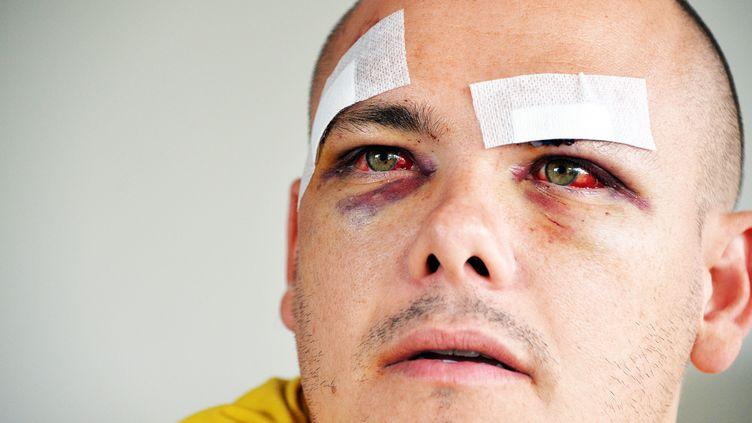 """Laurent Chanfray a été attaqué par plusieurs """"supporters"""" de l'OM à sa sortie du stade Vélodrome, dimanche 20 septembre. (  MAXPPP)"""