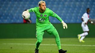 Keylor Navas, récent vainqueur de la Coupe de France avec le PSG, a été élu meilleur gardien de la saison le 21 mai 2021. (PASCAL GUYOT / AFP)