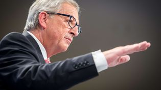 Le président luxembourgeois de la Commission européenne, Jean-Claude Juncker, à Bruxelles (Belgique), le 10 septembre 2014. (GEERT VANDEN WIJNGAERT / AP / SIPA)
