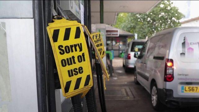 Royaume-Uni :l'armée en renfort pour faire face à la pénurie de carburant