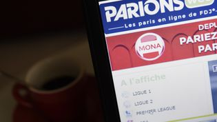 Un internaute se connecte au site de paris sportifs Parions Web à Paris, le 1er mars 2015. (LOIC VENANCE / AFP)
