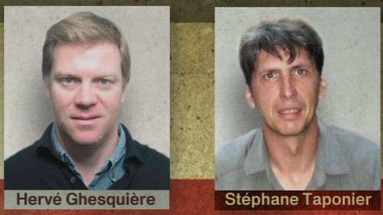 Les deux journalistes de France 3, otages en Afghanistan (France 3)