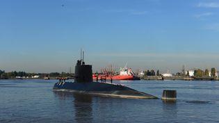 """Le sous-marin argentin """"San Juan"""", à Buenos Aires en 2014. (MARINE ARGENTINE / AFP)"""