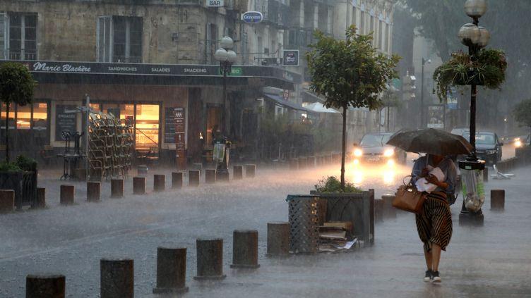 Des orages ont récemment frappé le sud-est de la France : ici à Avignon (Vaucluse), le 9 août 2018. (MAXPPP)