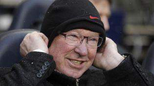 Alex Fergusonpendant la rencontre entre Tottenham et Manchester United en Ligue des champions,le 20 janvier 2013. (IAN KINGTON / AFP)