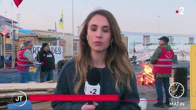 Réforme des retraites : le port de Marseille de nouveau bloqué en signe de protestation