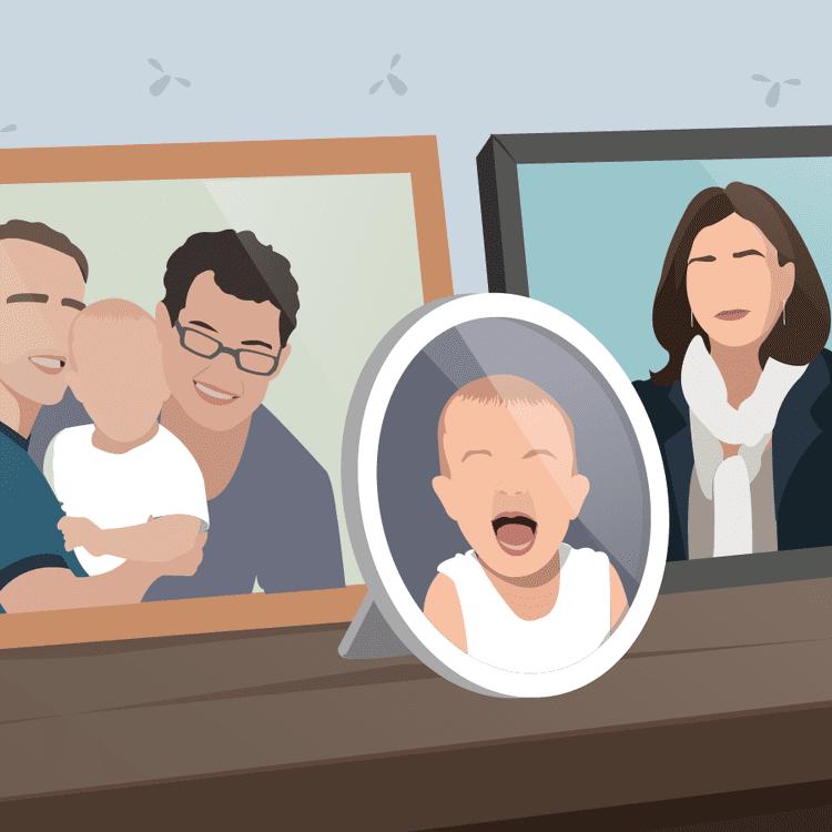Certains couples ayant recours à la GPA choisissent d'entretenir un lien fort avec la femme qui a porté leur enfant. (PASCALE BOUDEVILLE / FRANCETV INFO)