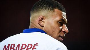 Kylian Mbappé lors de la rencontre face à Brest, le 23 mai 2021. (FRED TANNEAU / AFP)