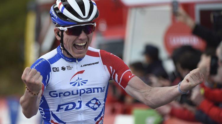 David Gaudu a remporté sa première victoire en Grand Tour. (MIGUEL RIOPA / AFP)