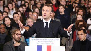 Emmanuel Macron, mars 2018  (LUDOVIC MARIN / AFP)