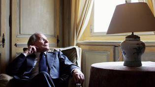 Jean d'Ormesson, le 22 février 2006 à Paris. (OLIVIER LABAN-MATTEI / AFP)