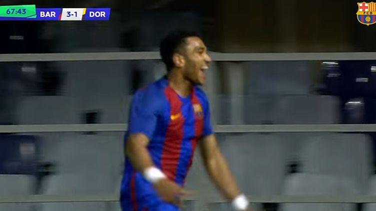 Le joueur du FC Barcelone, Jordi Mboula
