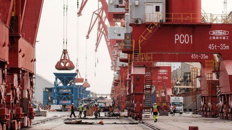 Vue générale du Port de Doraleh à Djibouti, le 4 juillet 2018, dans le périmètre où la Chine a lancé le 5 juillet, en accord avec le gouvernement djiboutien, la construction de la plus grande zone franche d'Afrique. (Yasuyoshi CHIBA/AFP)