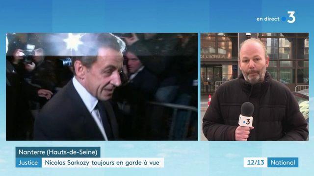 Nicolas Sarkozy a passé la nuit à son domicile
