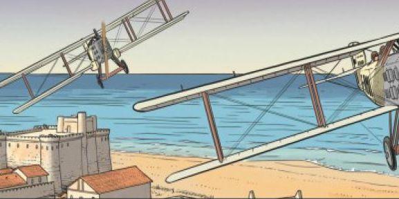 L'Aéropostale entre le désert et l'Atlantique dans le sud marocain au cours des années 20. Extrait de la BD «L'Aviateur» (Editions Dargaud) de Jean-CharlesKraehn etChrys Millien. (Dargaud)