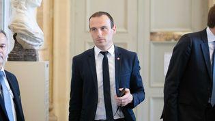 Le député Les Républicains, Fabien Di Filippo, dans la salle des Quatre colonnes à l'Assemblée nationale, le 19 juin 2019. (CHRISTOPHE MORIN / MAXPPP)