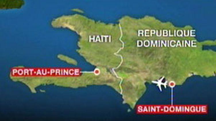 Haïti est située dans la partie occidentale de l'île d'Hispaniola qu'il partage avec la République dominicaine. (France 2)