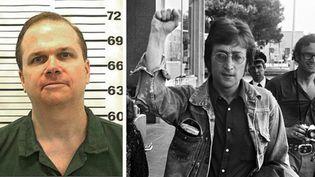 Photo récente de Mark David Chapman - John Lennon en mai 1971 à Cannes  (Ho / New York State Doc / AFP - Photo Sipa à Cannes)