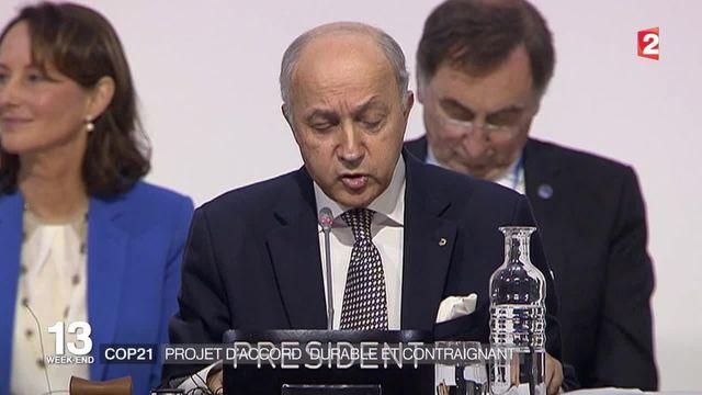 """COP 21 : Un projet d'accord """"durable et contraignant"""" a été trouvé"""