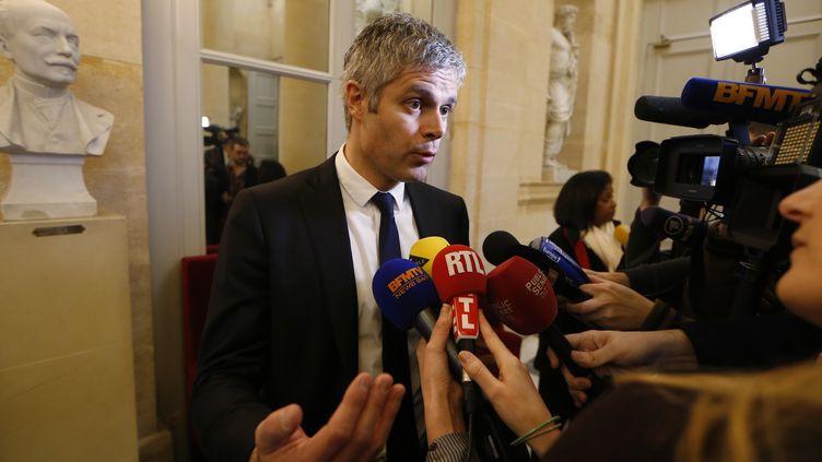 Laurent Wauquiez député de l'UMP dasn les couloirs de l'Assemblée nationale, le 17 février 2015 (THOMAS SAMSON / AFP)