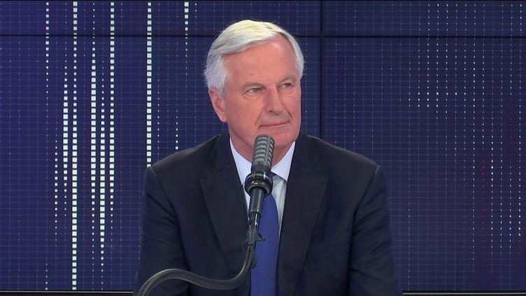 Michel Barnier, ancien commissaire européen, négociateur du Brexit et membre des Républicains, le14 juin 2021 sur franceinfo. (FRANCEINFO / RADIO FRANCE)